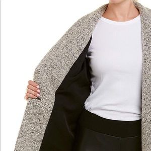 IRO Jackets & Coats - NEW Iro Wool Boucle Blend Coat, Grey/White. Sz 42